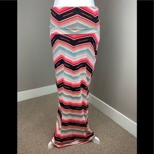 NWT RUE 21 COLORFUL STRIPED MAXI SKIRT